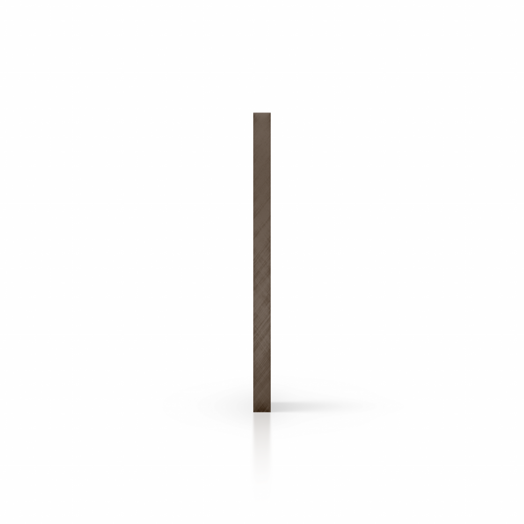 Cote plaque polycarbonate teinte brun