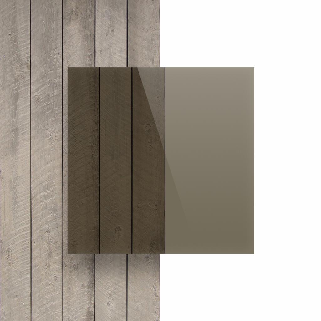 Devant plaque polycarbonate brun teinte