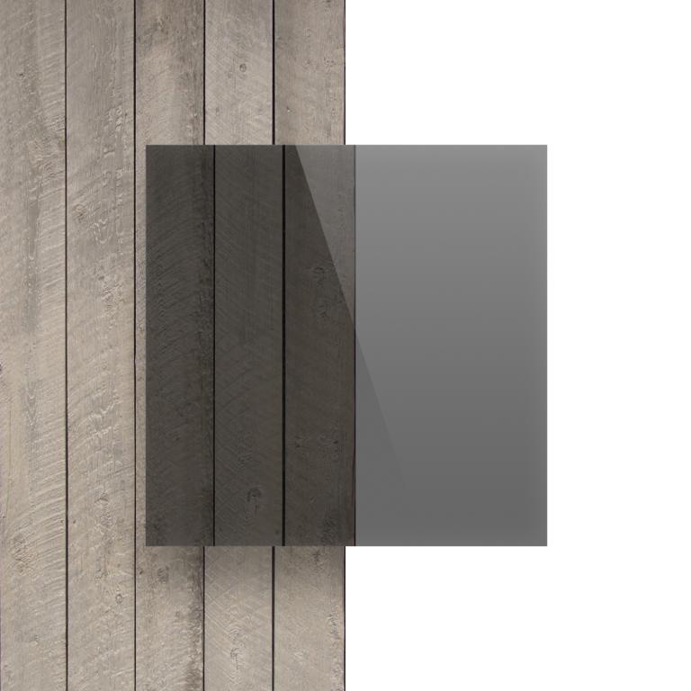 Devant plaque polycarbonate gris teinte