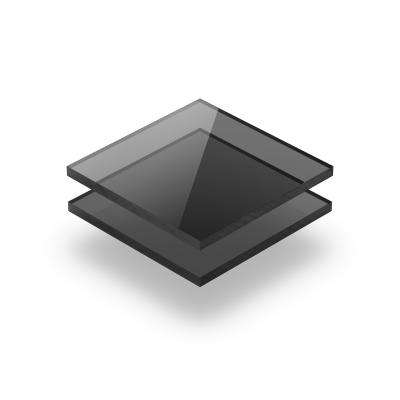 Plaque polycarbonate gris teinte