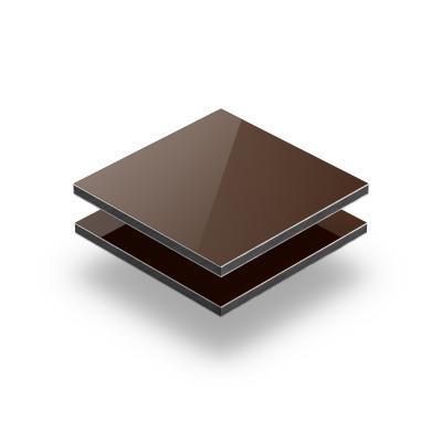 Plaque alupanel brun