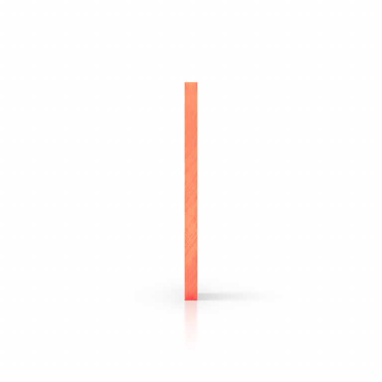 Cote plexiglass fluorescent orange