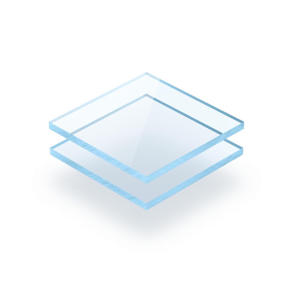 Plaque Plexiglass fluorescent bleu