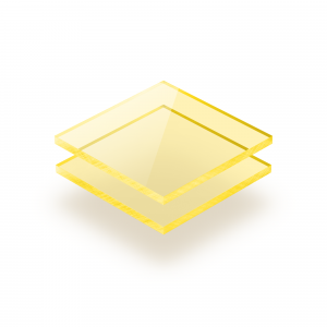 Plaque Plexiglass fluorescent jaune