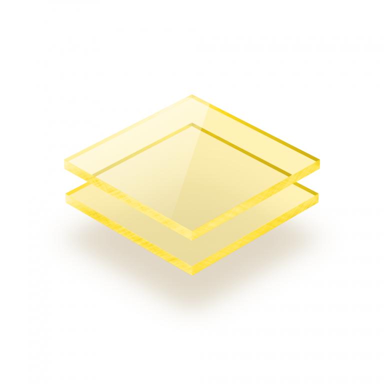 Plaque Plexiglass fluorescent jaune