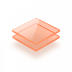 Plaque Plexiglass fluorescent orange