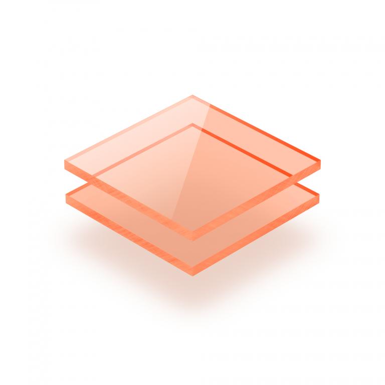 Plaque Plexiglass fluorescent orange