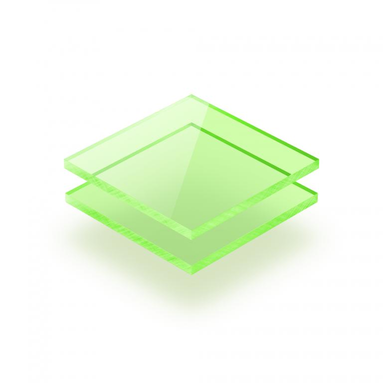 Plaque Plexiglass fluorescent vert