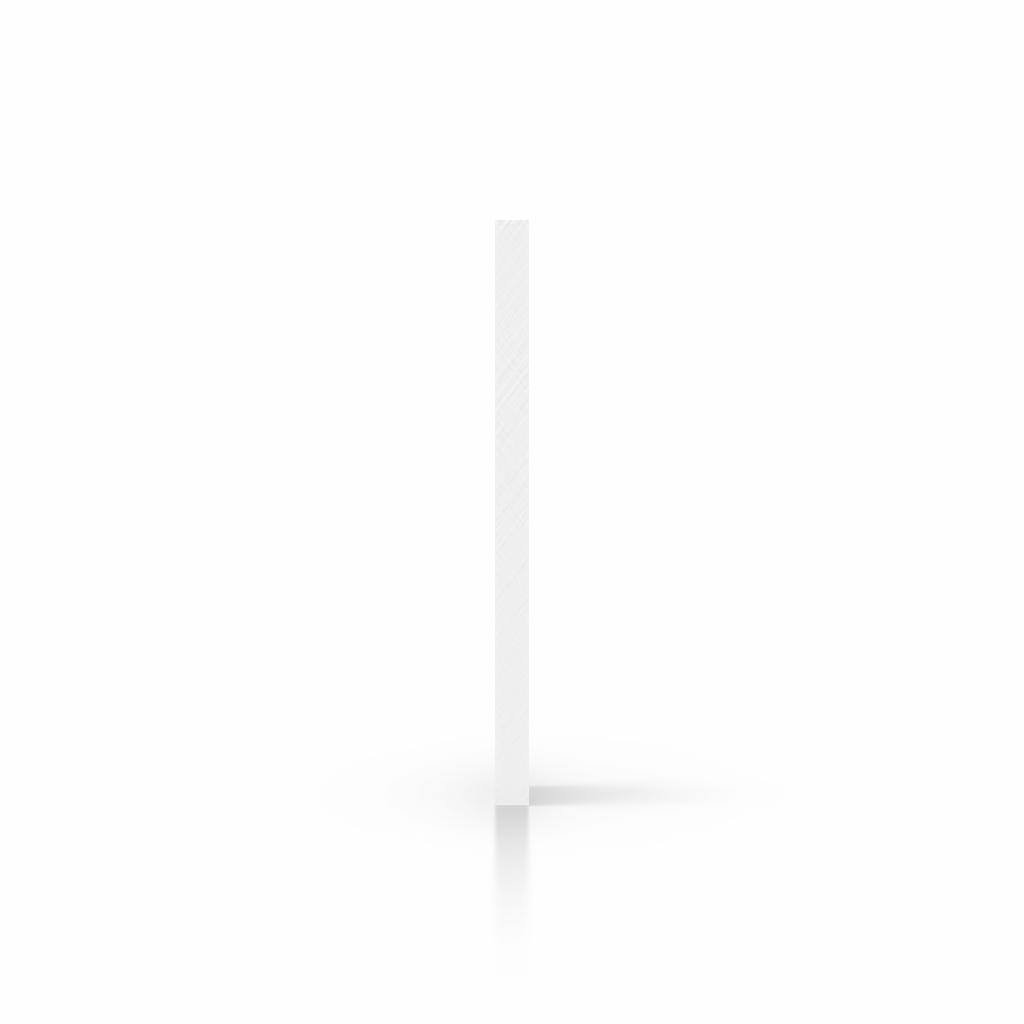 Cote plaque polycarbonate blanc opal