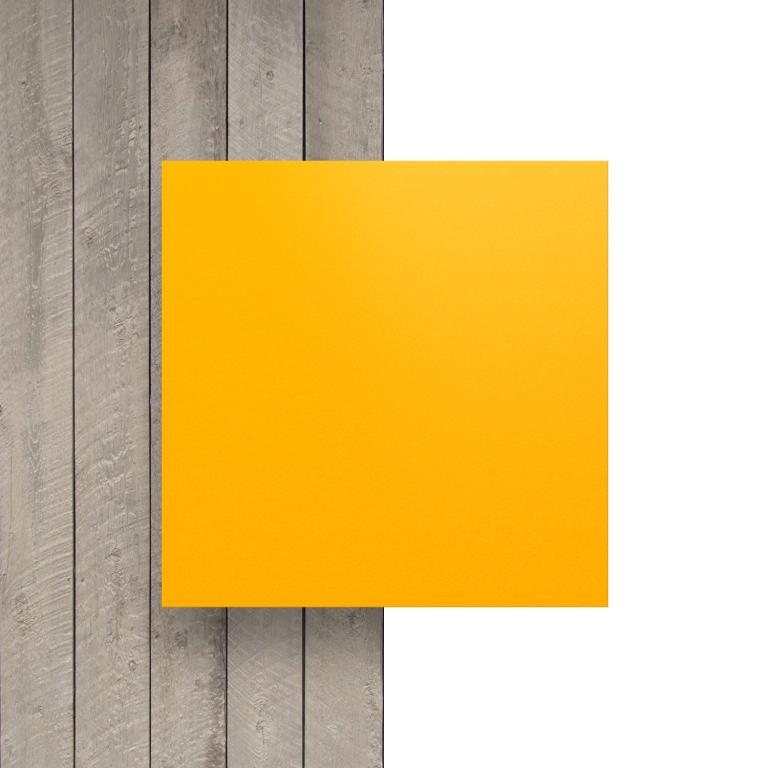 Devant plaque HPL jaune de securite