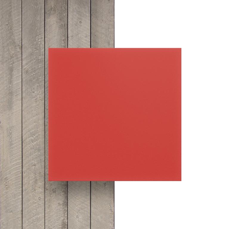 Devant plaque PVC mousse rouge