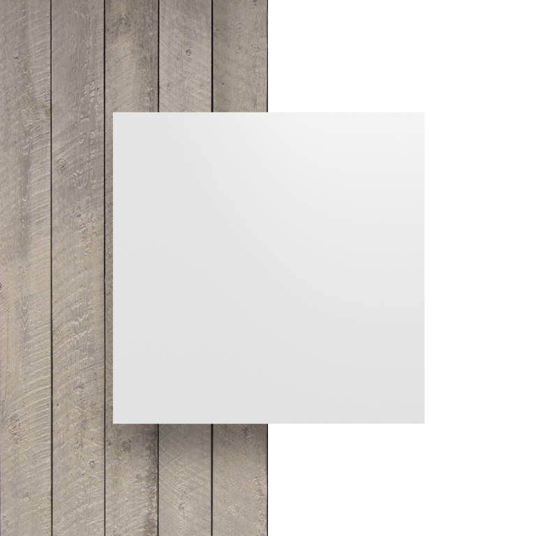 Devant plaque alupanel blanc mat