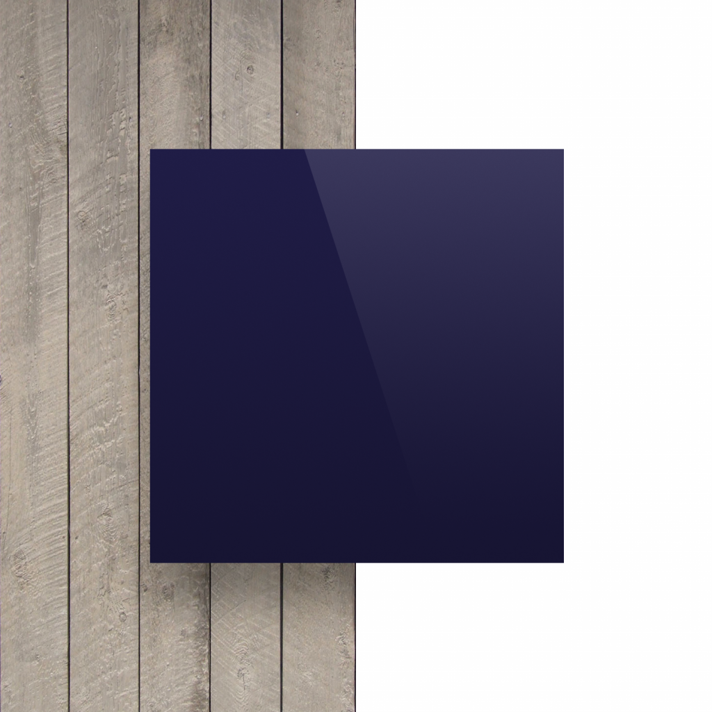 Devant plaque alupanel bleu fonce