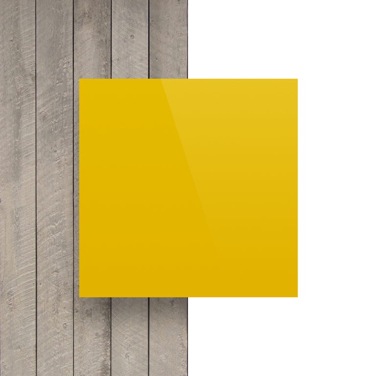 Devant plaque alupanel jaune