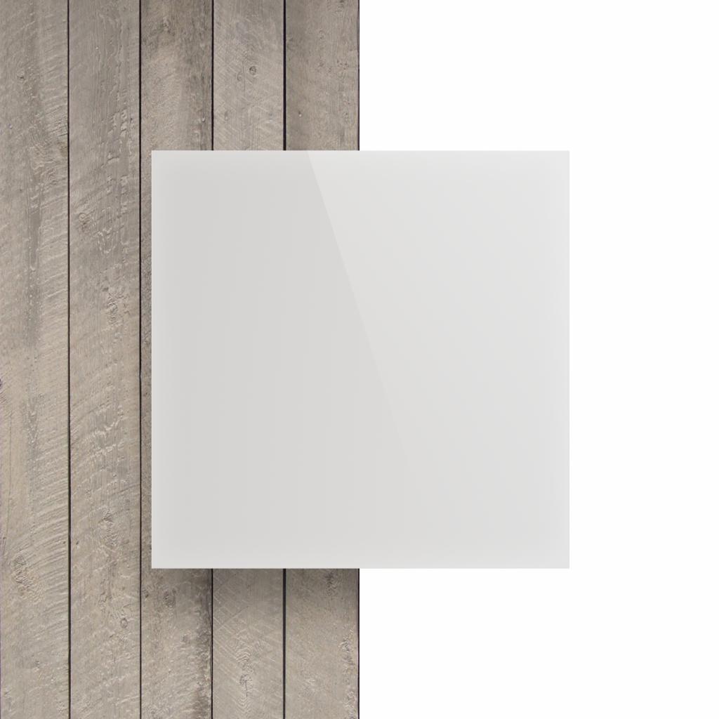 Devant plaque polycarbonate blanc opal