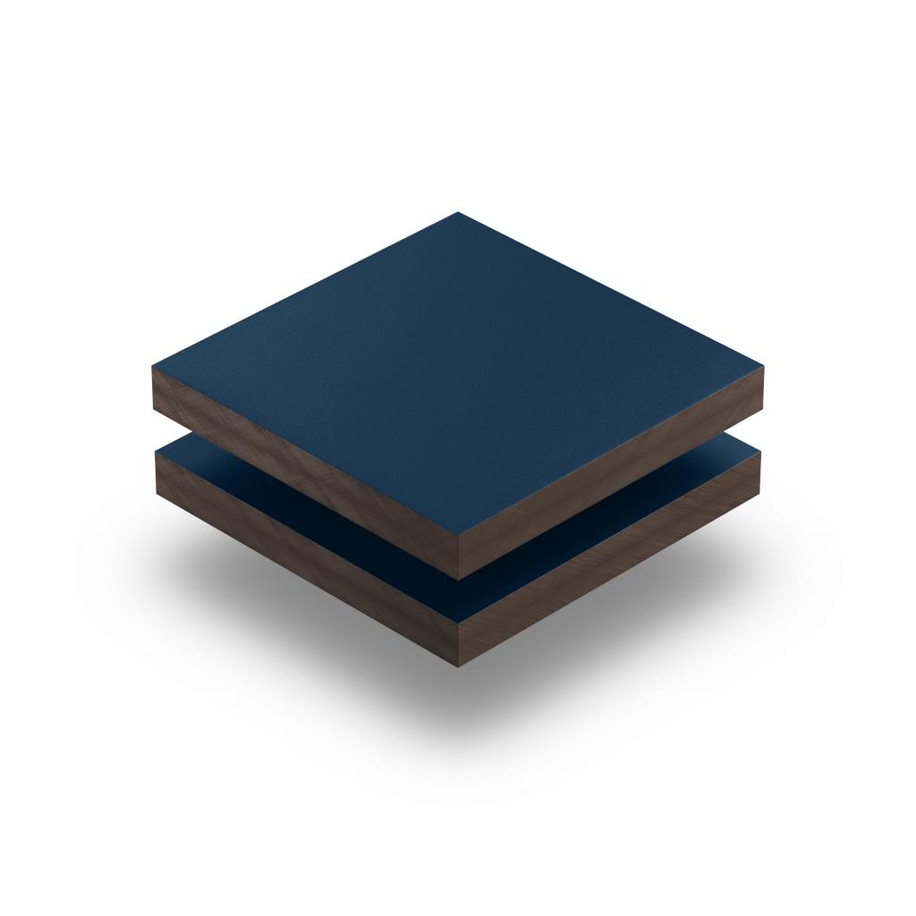 Plaque HPL bleu acier