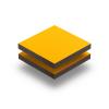 Plaque HPL jaune de securite