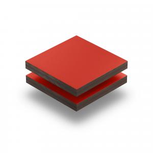 Plaque HPL rouge signalisation
