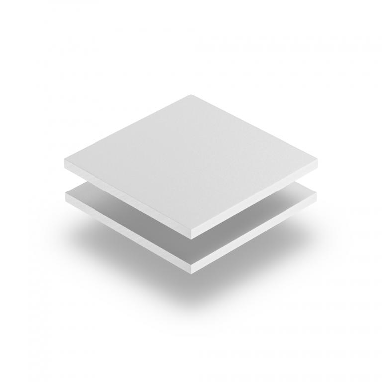 Plaque PVC mousse blanc