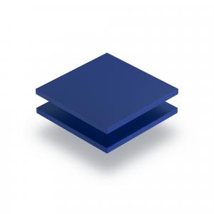 Plaque PVC mousse bleu
