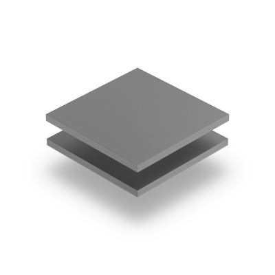Plaque PVC mousse gris