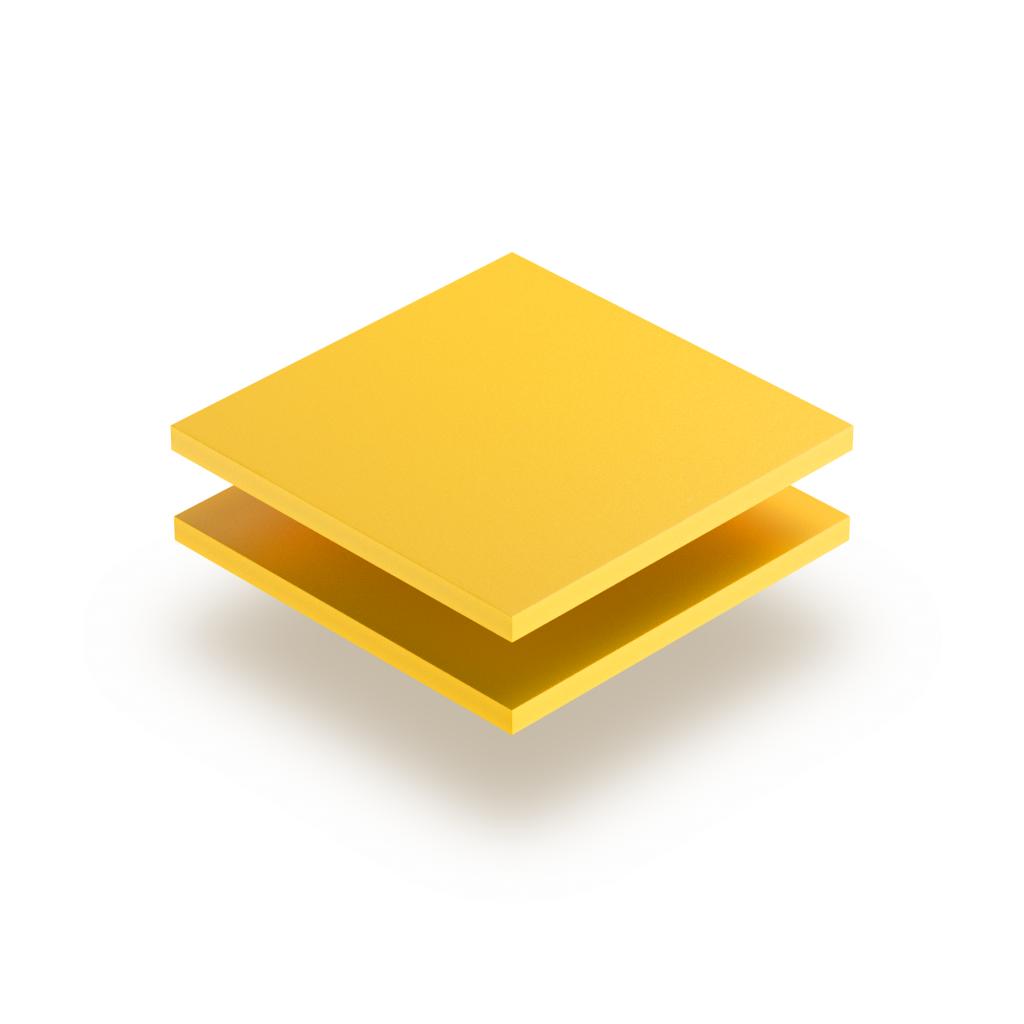 Plaque PVC mousse jaune