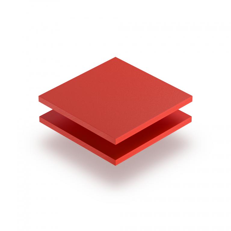 Plaque PVC mousse rouge