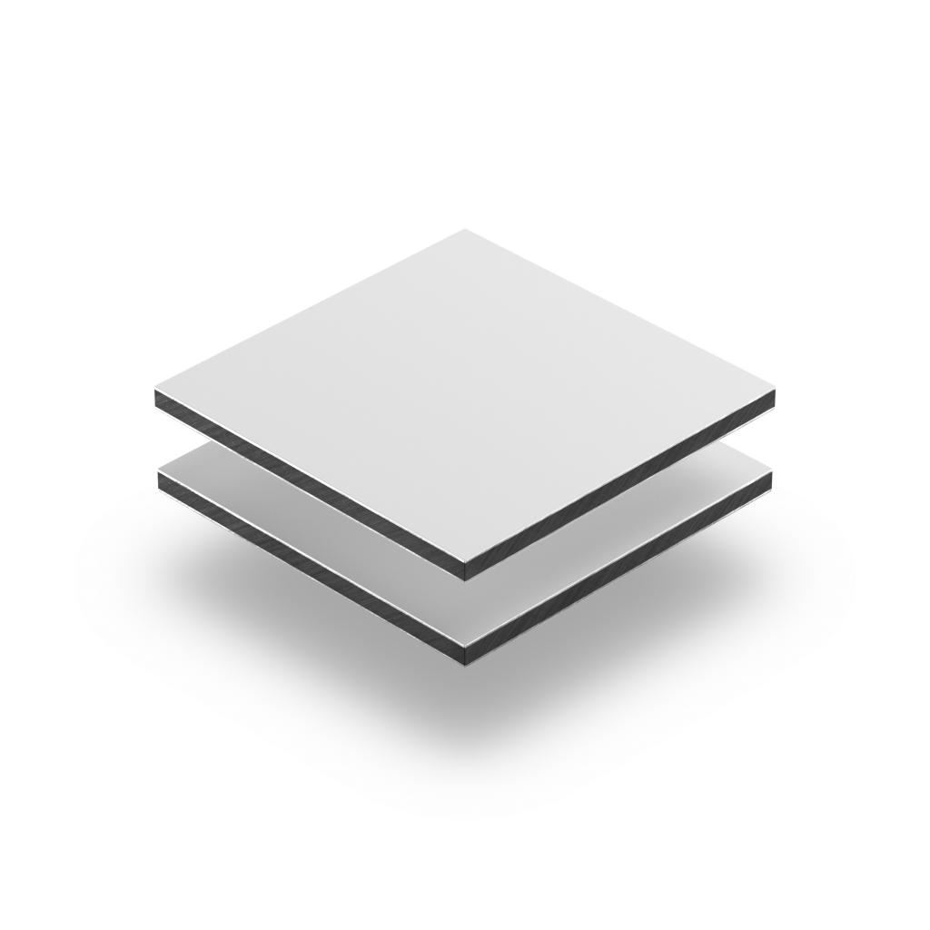 Plaque alupanel blanc mat