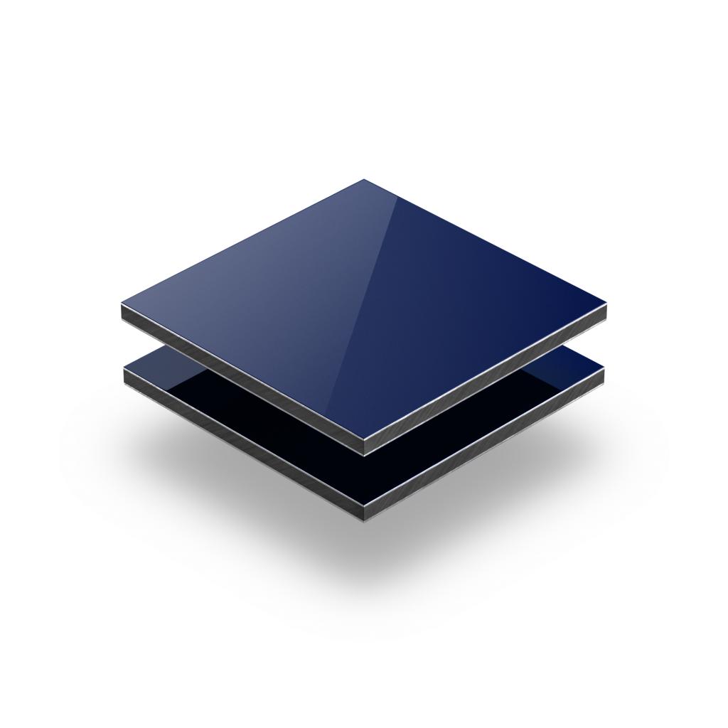 Plaque alupanel bleu