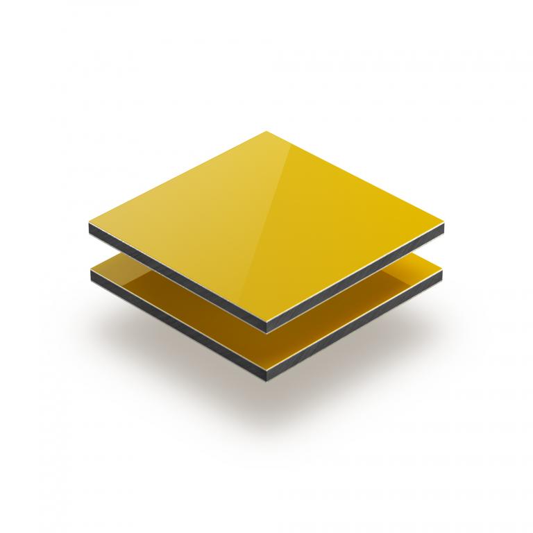 Plaque alupanel jaune