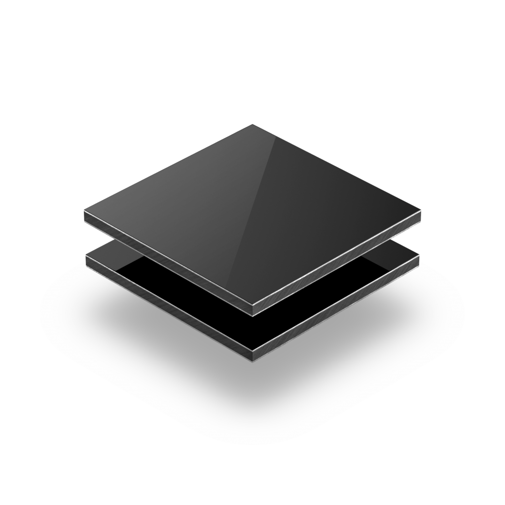 Plaque alupanel noir