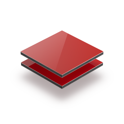 Plaque alupanel rouge
