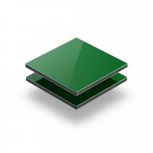 Plaque alupanel vert