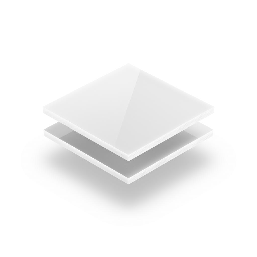 Plaque polycarbonate blanc opal
