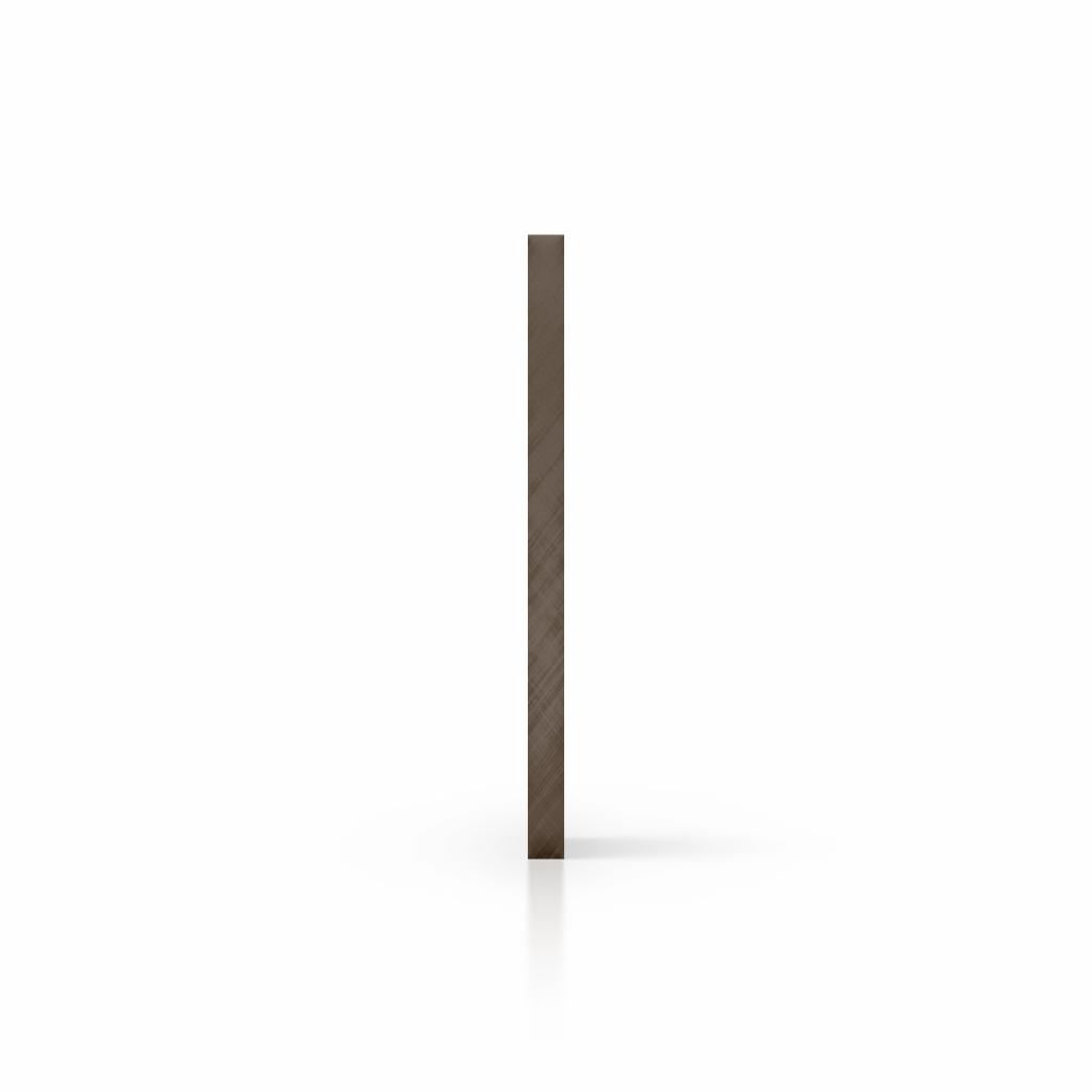 Cote plaque plexiglass teinte brun