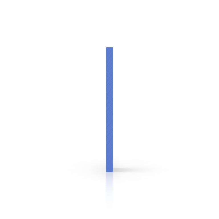 Cote plexiglass bleu opale