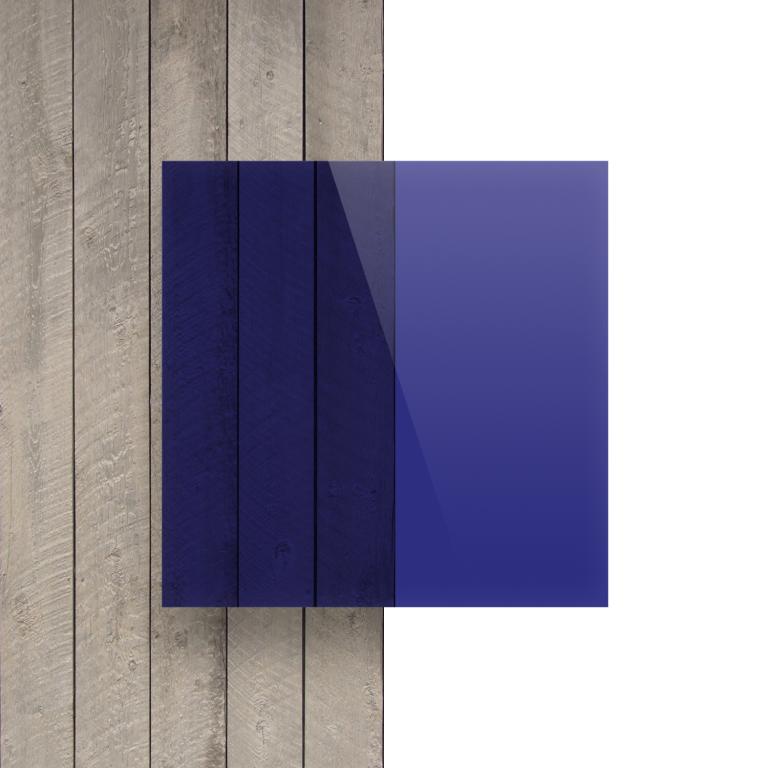 Devant Plexiglass teinte bleu