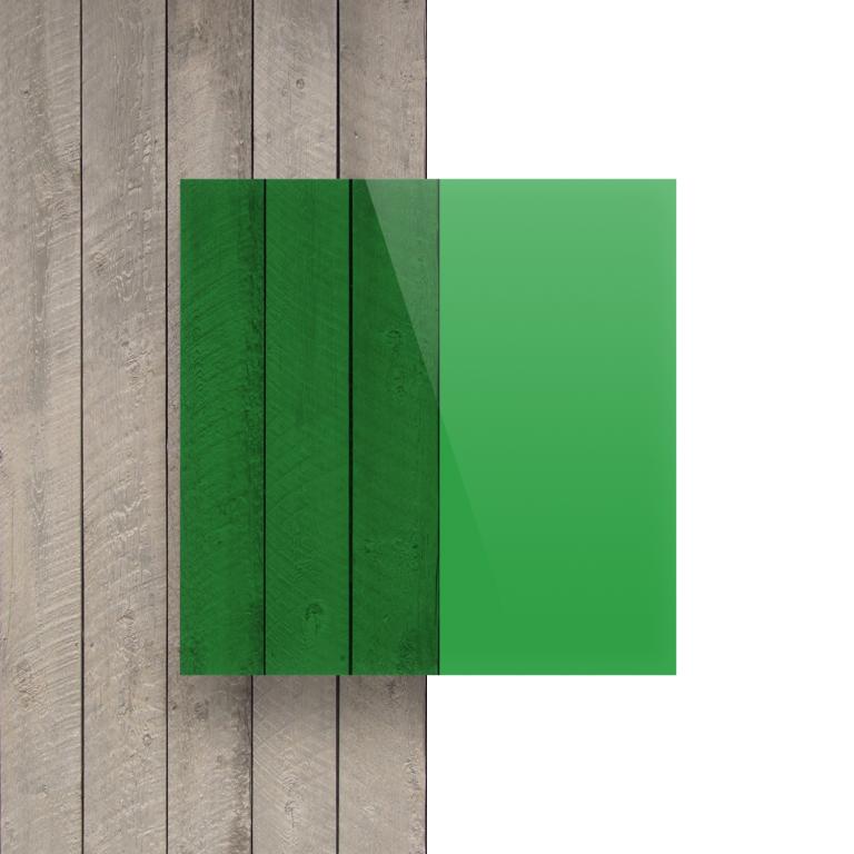Devant Plexiglass teinte vert
