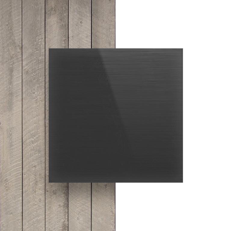 Devant plaque PVC solide gris fonce