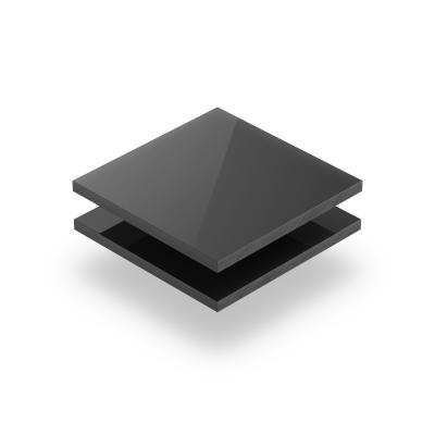 Plaque PVC solide gris fonce