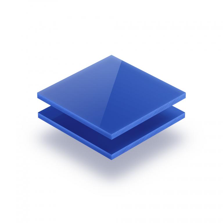 Plaque Plexiglass bleu opaque
