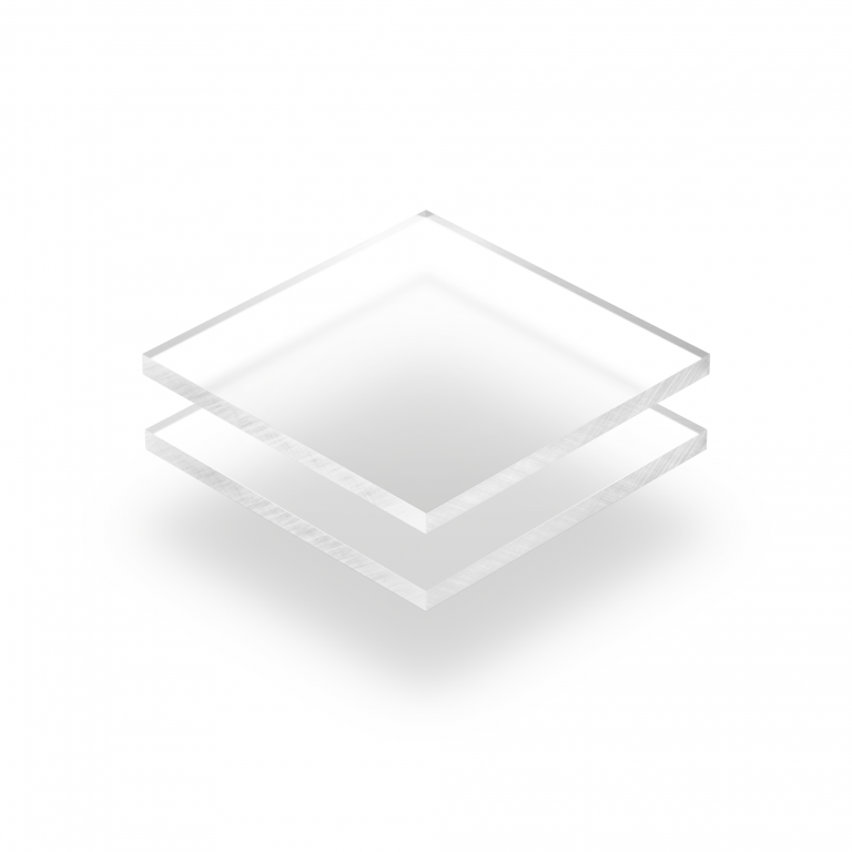 Plaque Plexiglass givre transparent