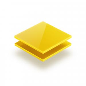 Plaque Plexiglass jaune opaque