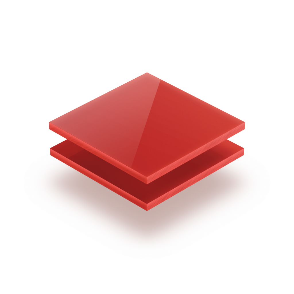 Plaque Plexiglass rouge opaque