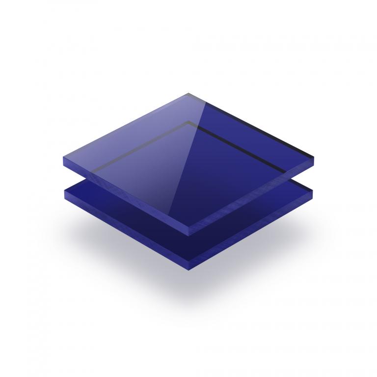 Plaque Plexiglass teinte bleu