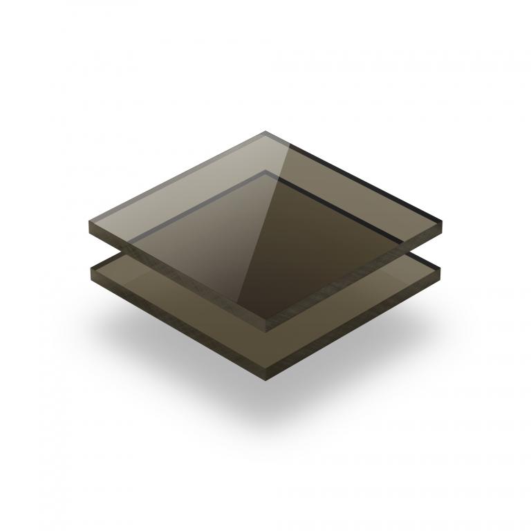 Plaque Plexiglass teinte brun