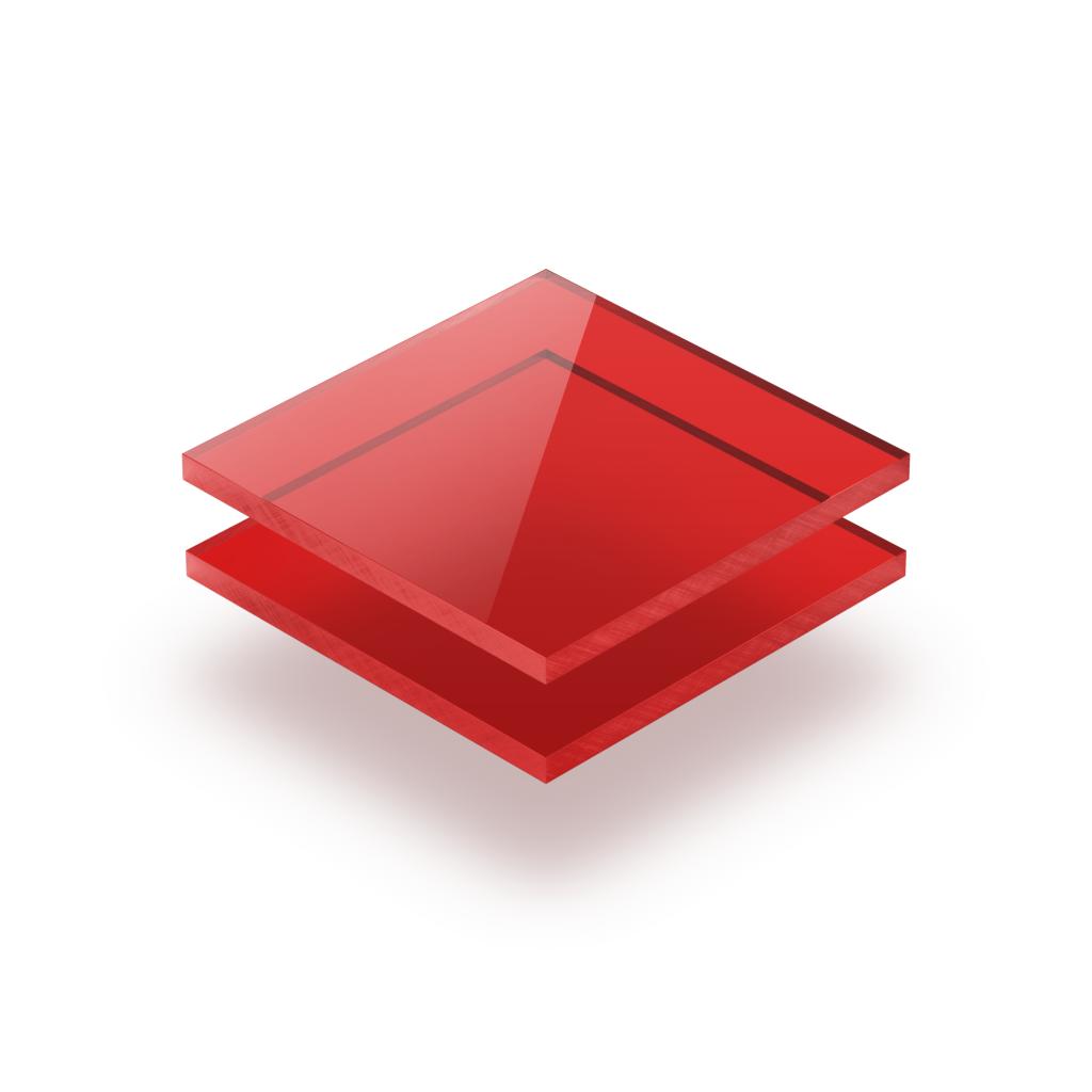 Plaque Plexiglass teinte rouge