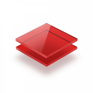Plaque Plexiglass teinte rouge