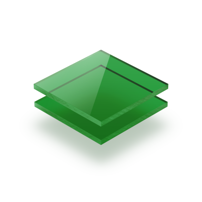 Plaque Plexiglass teinte vert