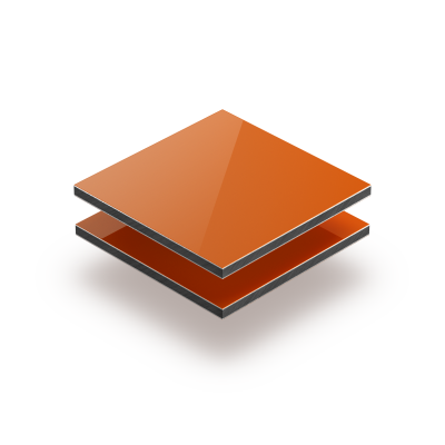 Plaque alupanel orange